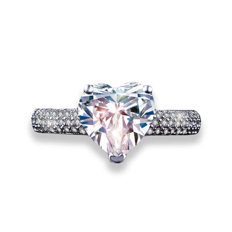 Heart of Diamonds Ring