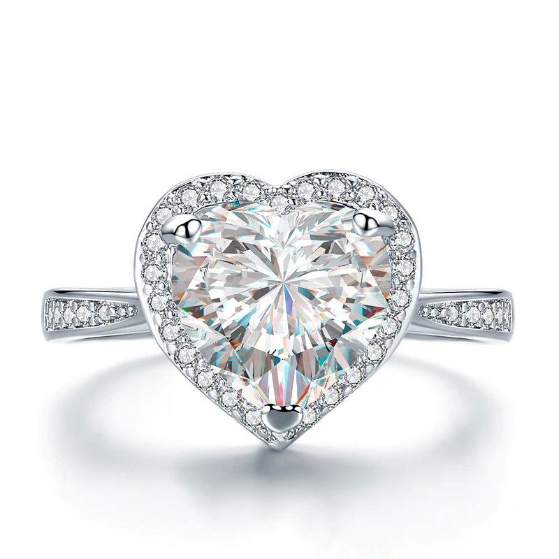 Classic Diamond Heart Ring