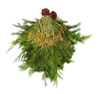 Door Swag Evergreen Bunch 12''x 6''