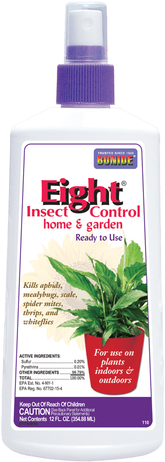 Bonide Eight Houseplant Insect Control, 12 oz.