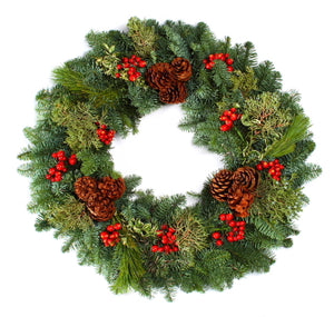 Holiday Masterpiece Wreath 24""