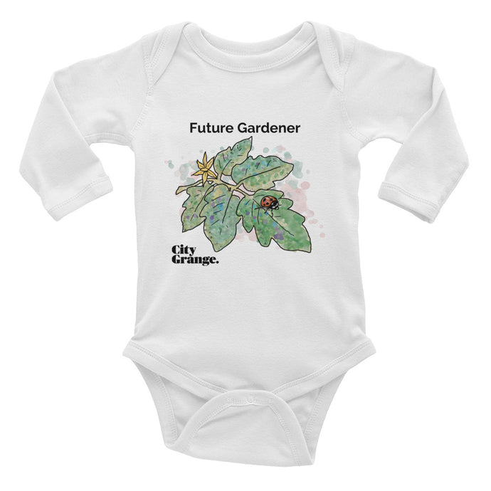 Future Veggie Gardener - Infant Long Sleeve Bodysuit