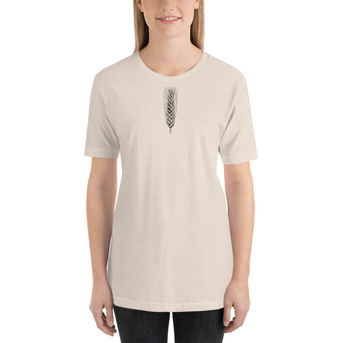 Wheat Vintage Botanical Short-Sleeve Unisex T-Shirt