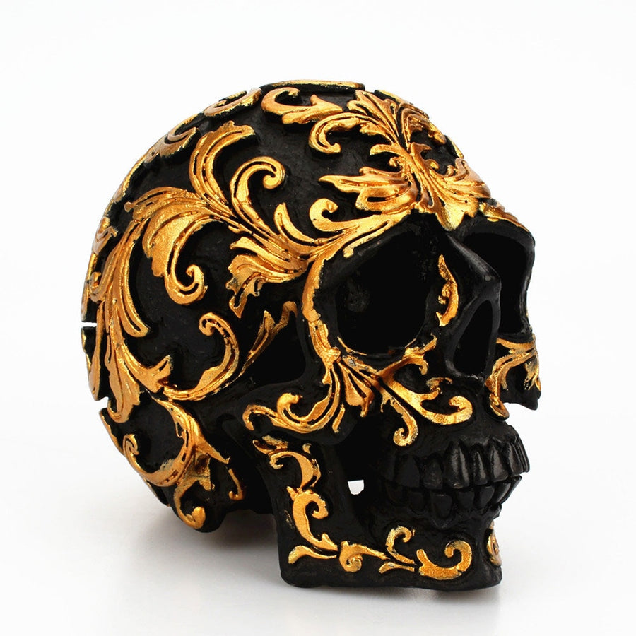 Egyptian Decor | Golden Black Skull Head