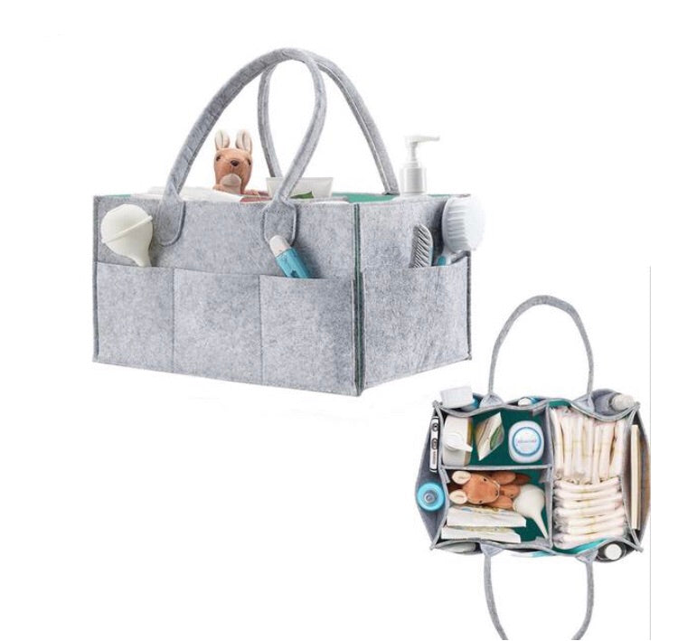 Foldable Baby Diaper Caddy Organiser - 3 colors