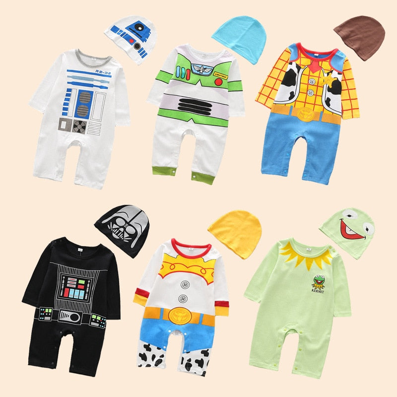 Infant Boy Long Sleeve Costume Rompers