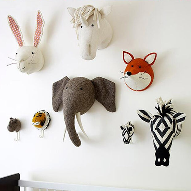 Animal Heads Wall Hanging Decor