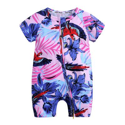 Short Sleeved Zipped Rompers 6m-3T