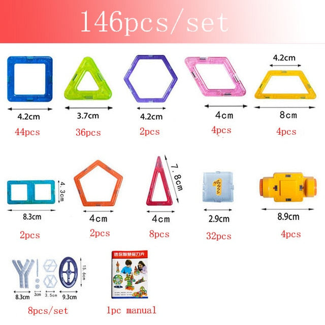 30-180pcs/Set Mini Magnet Toys