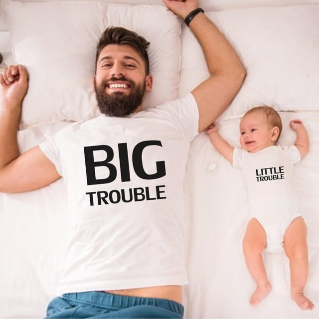Big trouble and Little trouble matching Tshirts