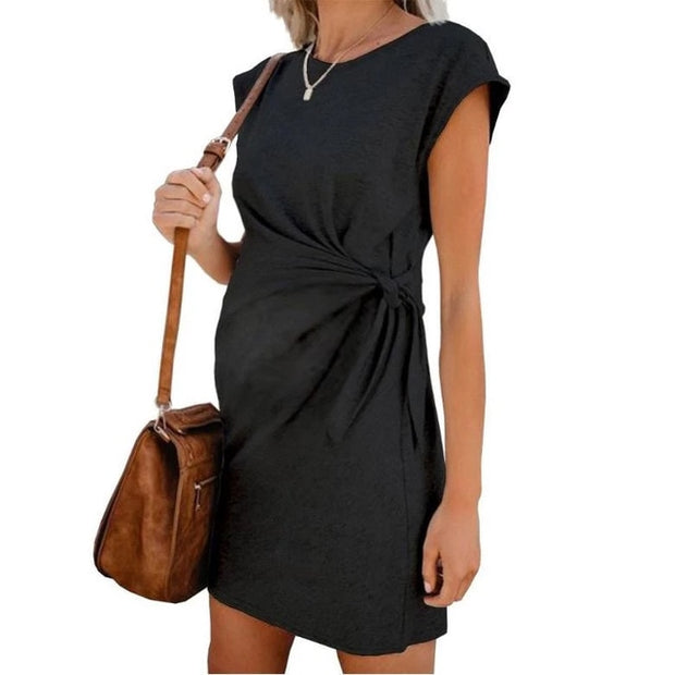 Tie-in Waist Women's Dress