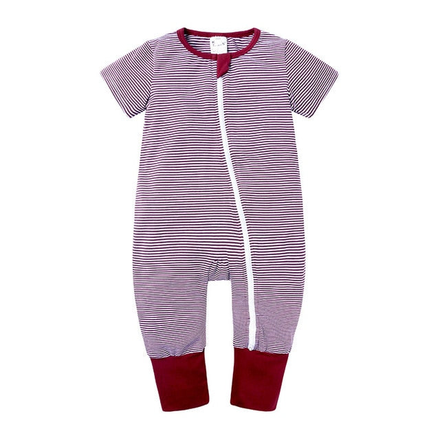 Zip Rompers Short Sleeve 6-12m