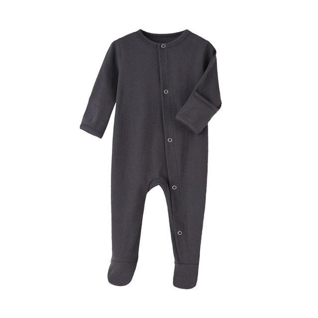 Organic Cotton Zip Footed Rompers 3-12m