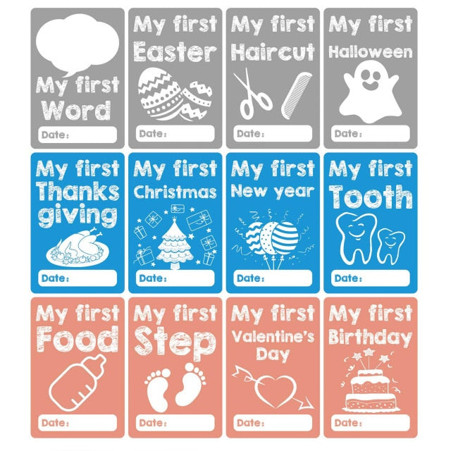 12-pack Monthly Baby Milestone Stickers