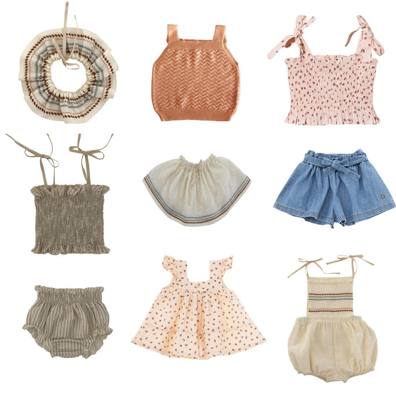Summer Baby Girls Romper Sets
