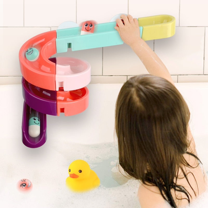 Wall Suction Race Run Bathtub Toy