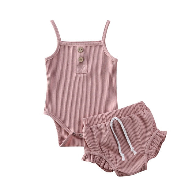 Summer Newborn Tops + Shorts Set 2pcs/set