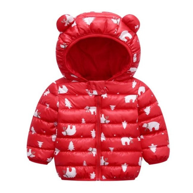 Hooded Light down Coats 1T- 5T