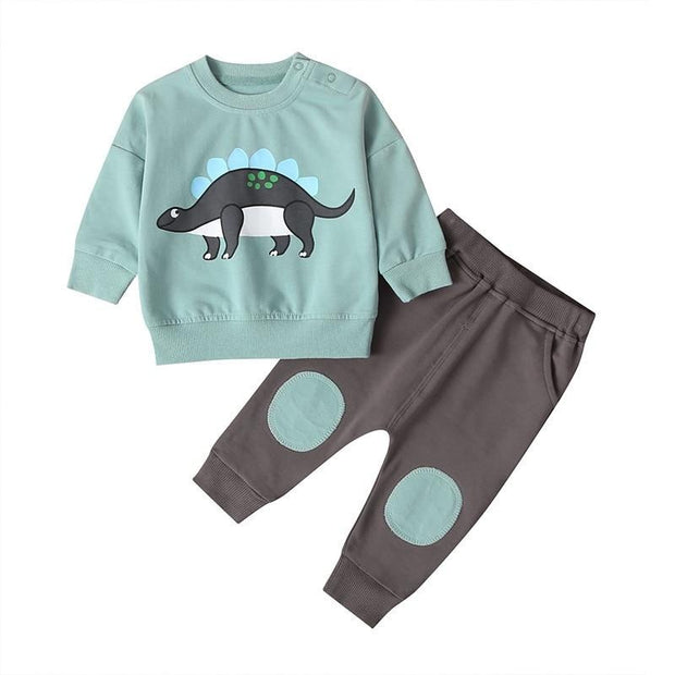 2PCS Baby Boys Tops+Pants Sets 6-24M