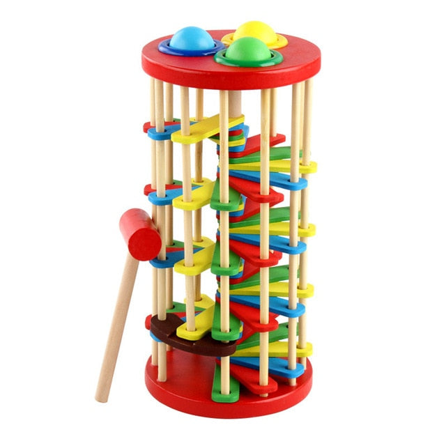 Wooden Knocking Ball Ladder Toy