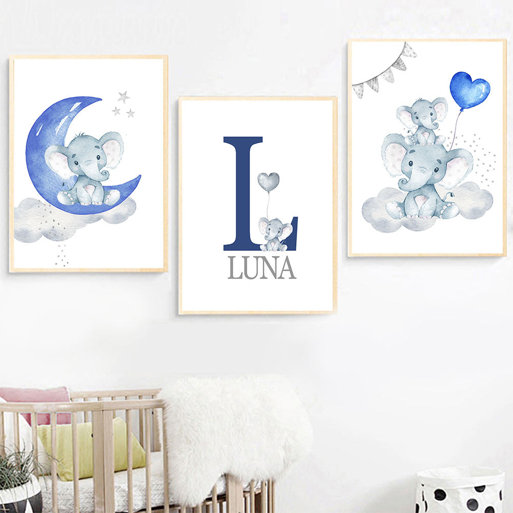 Blue Moon Balloon Wall Art