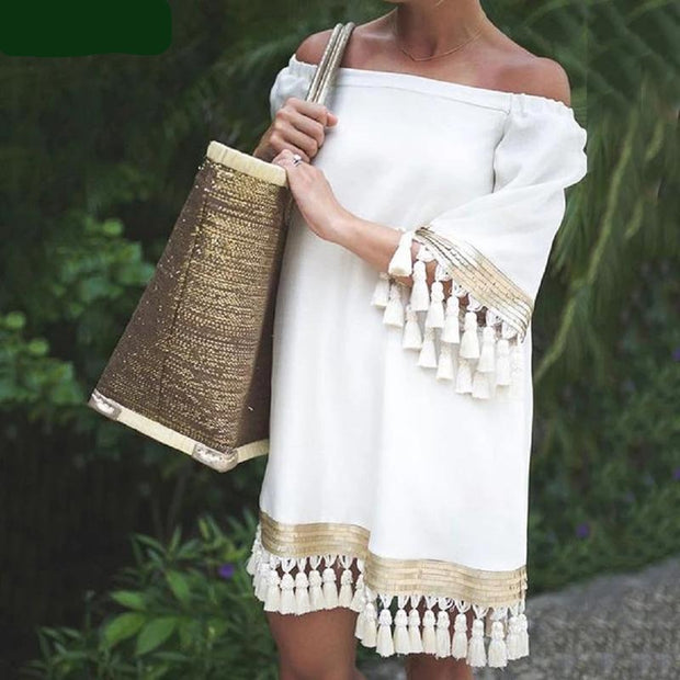 Maternity Beach Boho Dress