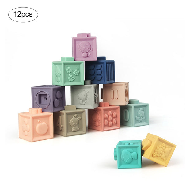 Sensory Silicone Building Block Toys.