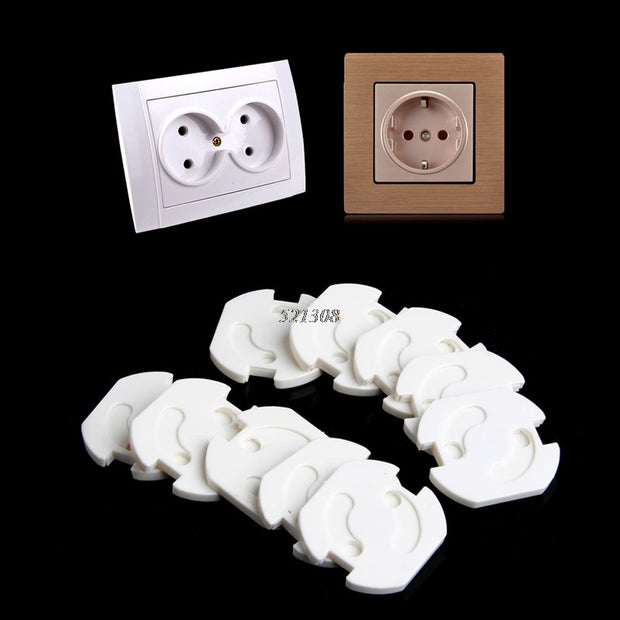 10pcs EU Power Socket Electrical Outlet Protection