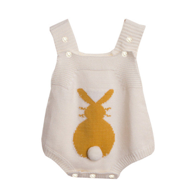 Newborn Infant Baby Girls romper Rabbit Knitted Outfit