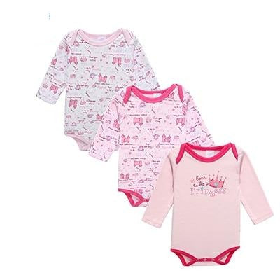 100% Cotton Baby Bodysuit 3pieces/lot - 16 sets