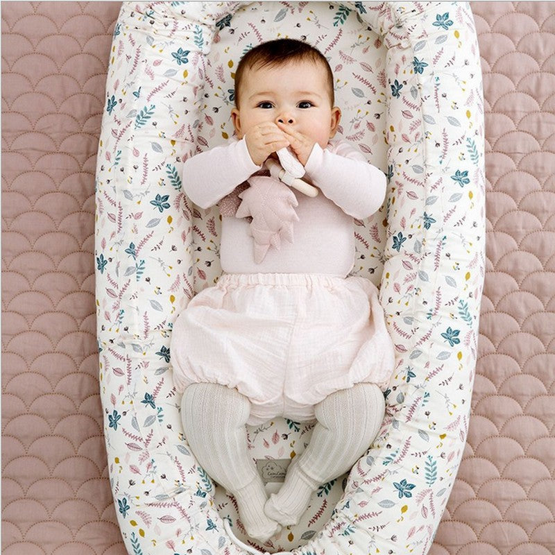 Baby Nest Portable Bed 80CM, Cotton Infant Travel Bed - 19 styles