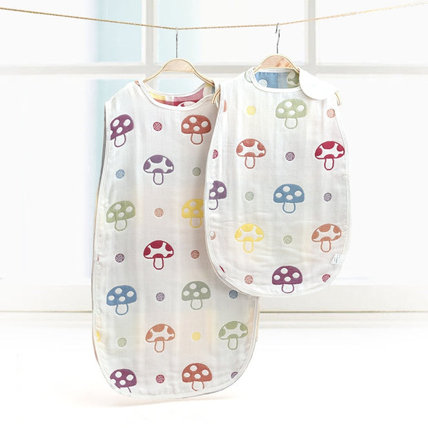 Summer Muslin Baby Sleeping Bag - 8 styles