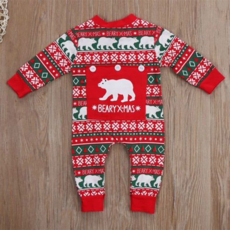 Newborn Infant Baby Xmas Bodysuit Romper - NB-12M