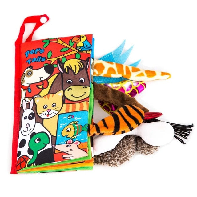 Kids 3D Animal Tails Cloth Book