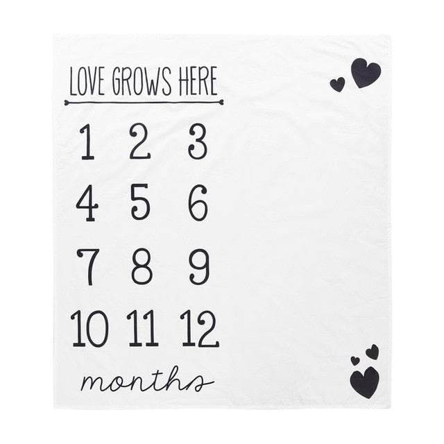 Infant Photography Milestone Blanket - 21 styles