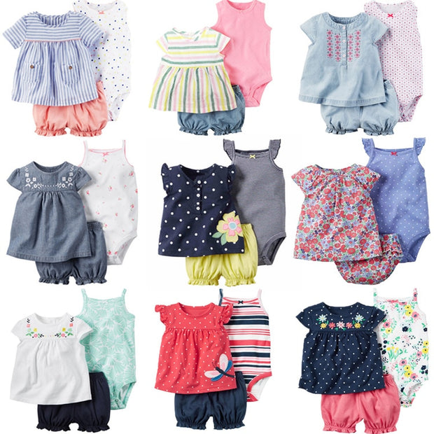 Baby Girl Summer Romper Sets - 17 styles