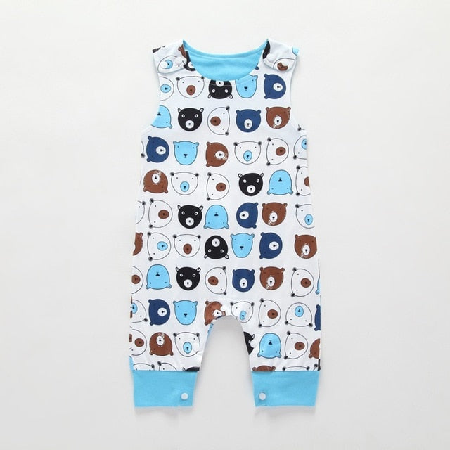 Baby Sleeveless Short and Long Romper 3-24M