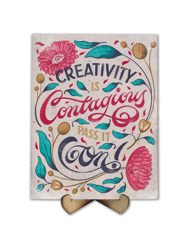 Creativity is contagious lettering - Freak Plate