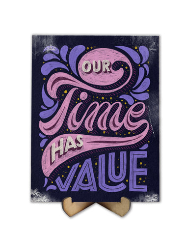 Our Time has value lettering - Freak Plate