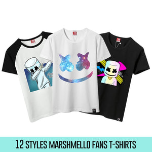 Marshmello Kids White T shirt childrens Youtube DJ music Electronic Cartoon