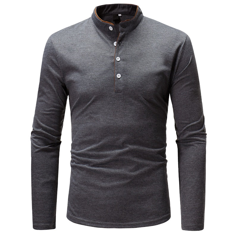 2018 New Brand Men Polo Shirt Solid Color Long-Sleeve Slim Fit Shirt Men Cotton Polo Shirts Casual Shirts XXXL T969-ivroe