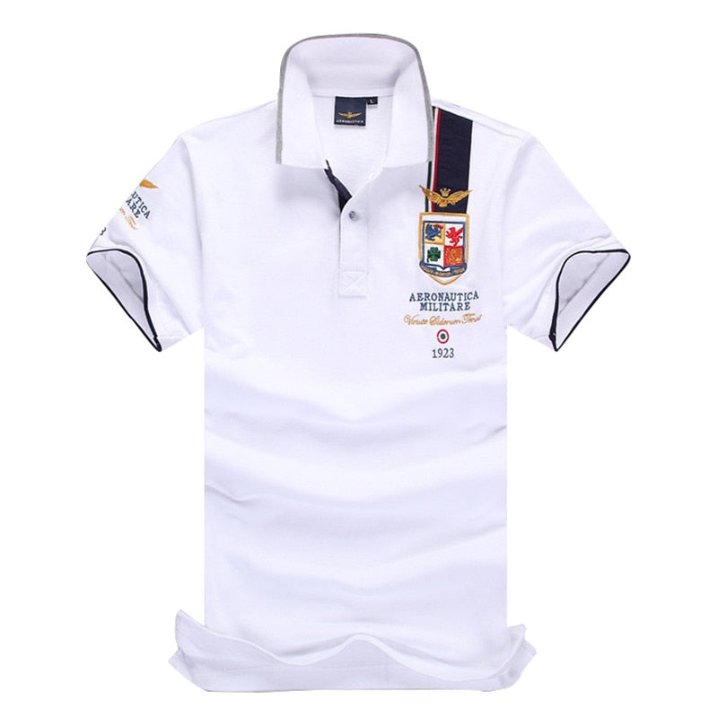 High Quality Camisas Masculinas Polo Australian calvin RETAIL AERONAUTICA MILITARE Men's POLO Shirt Air Force One Embroidered-ivroe