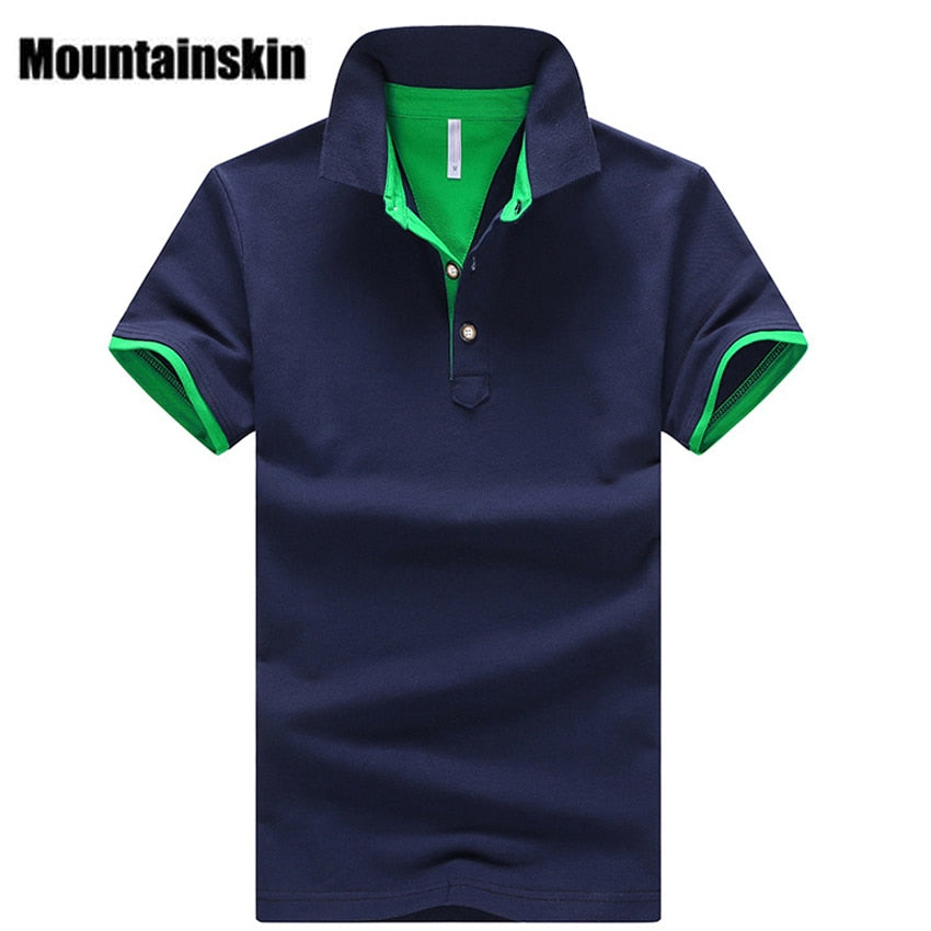 Mountainskin 2018 Solid Mens POLO Shirts Brand Cotton Short Sleeve Camisas Polo Summer Stand Collar Male Polo Shirt 4XL EDA324-ivroe