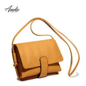 AMELIE GALANTI Fashion crossbody bags satchels high quality silt pocket solid cover hasp flap ladies office original design-ivroe