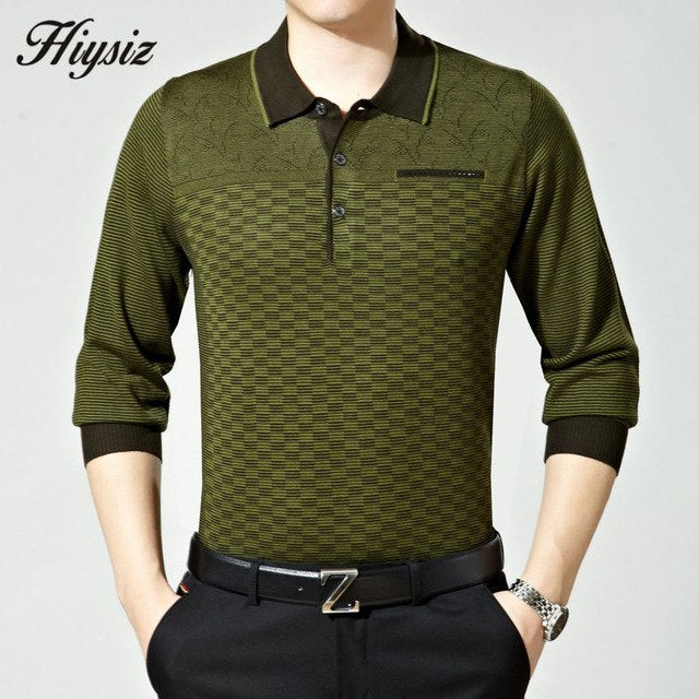 Free Shipping High Quality Business Dress Autumn Wool Sweater Shirt Men Turn-down Collar Cashmere Pullovers Plus Size Pull 66118-ivroe