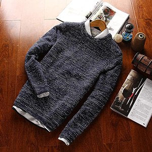 2016 New Autumn & Winter Top Quality Solid O-neck Pullover Men Slim Fit Sweater Men Pull Homme Sudaderas Mens Sweaters-ivroe