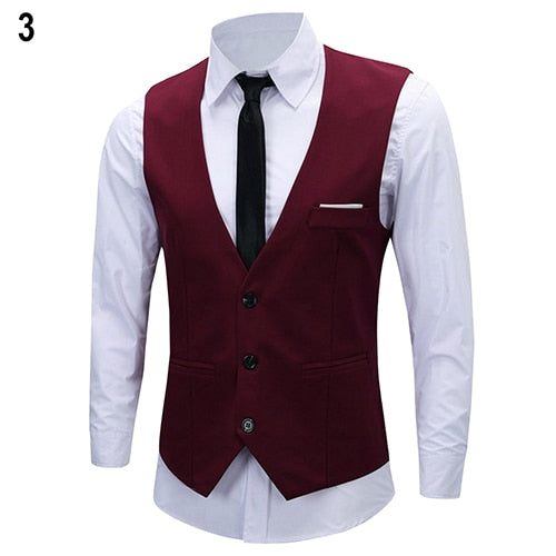 2016 New Arrival Men's Classic Formal Business Slim Fit Chain Dress Vest Suit Tuxedo Waistcoat 08WG-ivroe