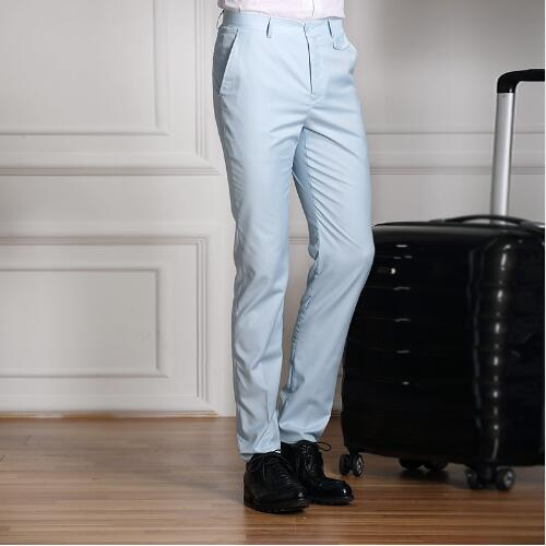 XMY3DWX Formal Wedding Men Suit Pants Slim Pure color Casual Brand Business Blazer Straight Dress Trousers high-grade Male-ivroe