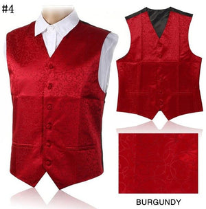 GUSLESON 2017 New Arrivel Mens Waistcoats Slim Fit Men Vest Suit Paisley Coletes Chaleco Hombre For Party Wedding-ivroe