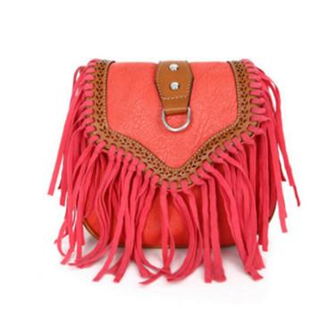Bohemian bag Boho Free Spirit Tassel Cross Body Purse Retro Hippie Designer Women's Gypsy Fringe Bohemian Shoulder Bag-ivroe